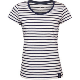Elkline Anna T-Shirt Damen white-blueshadow